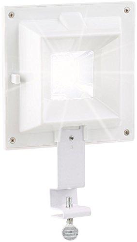 Lampe solaire 6 LED pour clôture et gouttière [Lunartec]