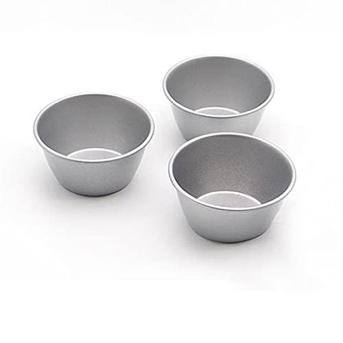 Liangte-Pudding-Form, Mini-Pudding-Topf, Aluminium-Backbecher, Antihaft-Muffin, Cidario-Form, Eierkuchenform, Cupcake-Topf, für Küche DIY Kochen