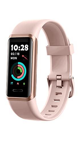 """YAMAY Pulsera Actividad Inteligente,Gran Pantalla HD Dinámica a Color de 1.05"""" Reloj Inteligente con Alexa,Datos del Tiempo,Pulsómetro,Pulsioximetro,Impermeable 5ATM Modo de Natación"""