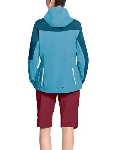 Vaude Damen Moab Rain Jacket Regenjacke für Mountainbikerinnen Jacke, Blau (Crystal Blue), 36 - 3