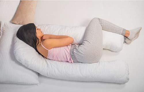 MPS Cojín de Embarazo Hallo pequeño, Color Blanco, 120 x 120 x 60 cm
