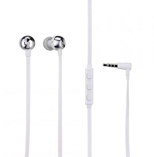 Original LG Headset Quadbeat 2 in Weiss für LG G5 InEar In-Ear Kopfhörer Ohrhörer Ohrstöpsel 3,5mm Stecker Stereo Sound LGHW2 + gratis Emiro® Display Cleaner zum reinigen Ihres Bildschirms