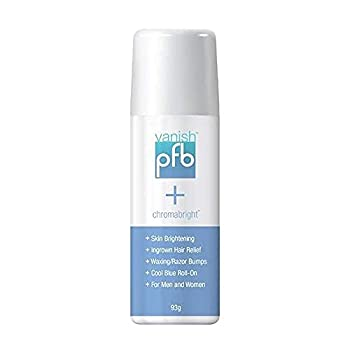 PFB Chromabright Razor Bump Stopper Skin Care Treatment Dark Spot Remover Roll On Formula Treats Ingrown Hairs and Razor Burns - 93g