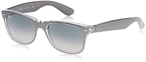 Ray-Ban RB2132 New Wayfarer Sunglasses, Gunmetal on Transparent/Light Grey/Dark Grey Gradient, 55 mm