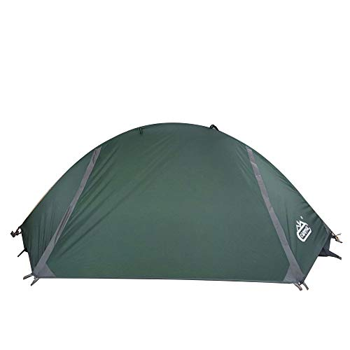 camppal 1 Person Tent Backpacking Camping Hiking Trekking Hunting Mountain Tent Super Lightweight and Waterproof & Windproof 4 Seasons Single (Green) - MT051