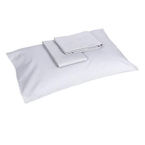Crochet - Juego de sábanas para cuna - 120 x 180 - yeso + blanco