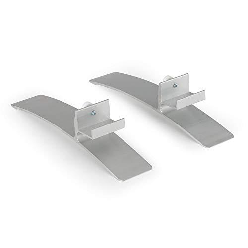 Klarstein Wonderwall Standfüße für Wonderwall Infrarot-Heizung - Kunststoff, 2 Stück, Zubehör, silber