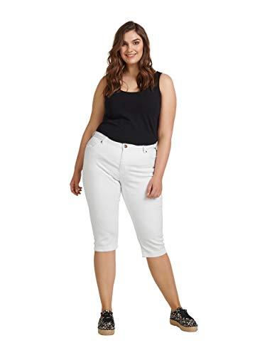 Zizzi Damen Capri Jeans 3/4 Caprihose Slim Fit Mit Stretch Große Größen 42-56