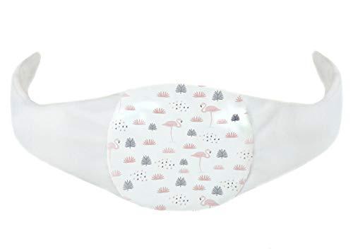 Kersenpitkussen warmtekussen warmwaterkussen in grootte verstelbaar voor baby's thermo-kussen gevuld met kersenzaad bij buizen en bladeren, [088] flamingo