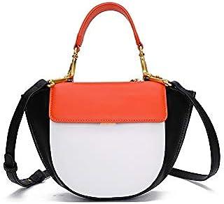 TGGongshengf Women's Fashion Shoulder Bag Leather Contrast Color Wings Bag Handbags Wild Portable Messenger Bag Small Bag (Color : Orange)