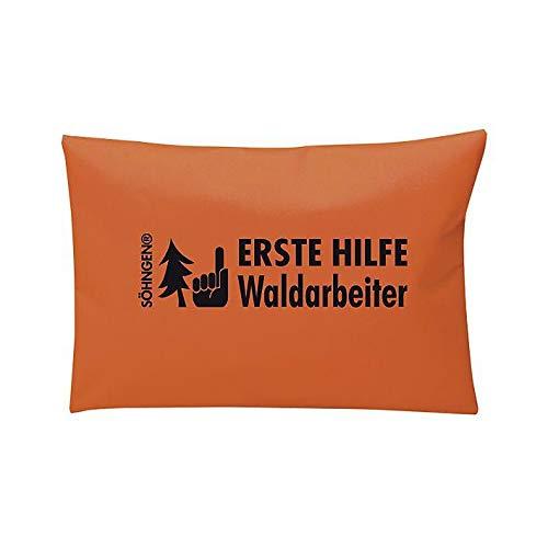 Erste Hilfe Waldarbeiter-Set Nylontasche orange