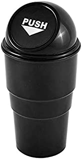 Automotive Cup Holder Garbage Can Trash Bin (Black)