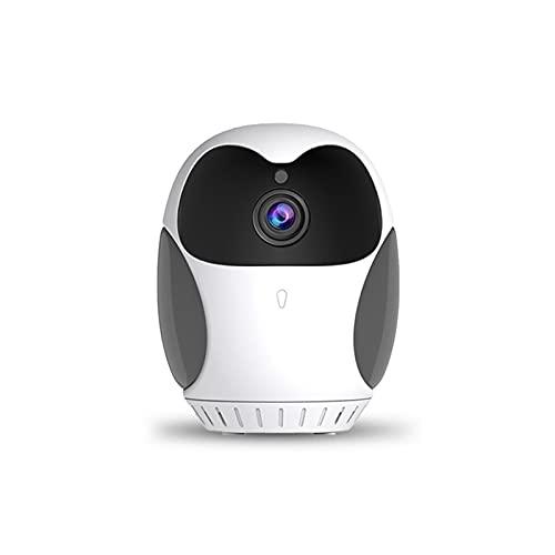 PDFF Monitores de Video para Bebés, Camara HD 1080P 360 Grados cámara de vigilancia con visión Nocturna Detección de Movimiento Audio bidireccional, Control Remoto por Android/iOS