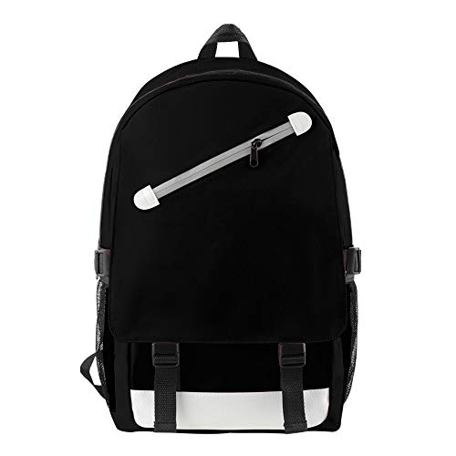 STKCST Anime Pure Color Blank USB Charging Port Travel Shoulder Bag Student Campus Youth Popular Men and Women Backpack Portable Small Casual Fashion Backpack