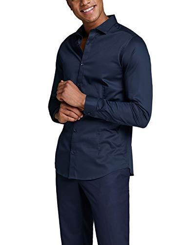 JACK & JONES Herren Businesshemd jjprPARMA Shirt L/S NOOS Navy XS
