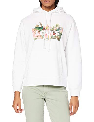 Levi's Graphic Standard Hoodie Sweat à Capuche, Batwing Fill Hummingbird White, XL Femme