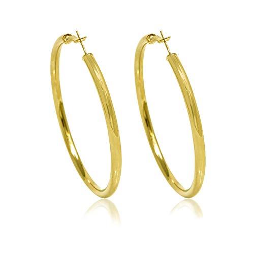 InSCINTILLE - Pendientes de aro tubulares chapados en oro o plata dorado