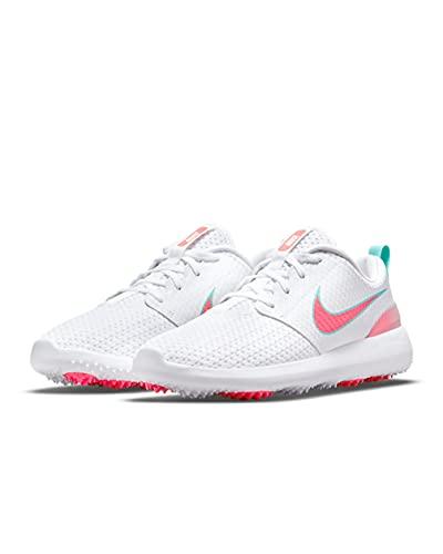 Nike Roshe G Zapatilla de Golf para Hombre (White/Hot Punch-Aurora Green, Numeric_43)