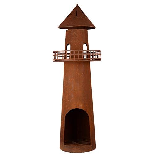 RM Design Garden Chiminea made of Patina 131 cm Tall Patio Stove/Patio Fireplace as Fire Bowl or Fire Basket for the Garden