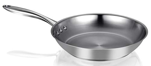 "Ozeri 10"" Steel Earth Pan 100% PTFE-Free Restaurant Edition, Stainless Interior"