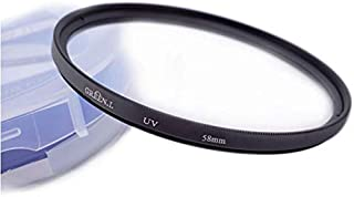 Fire-Rock 58mm HD UV Filter for Canon Rebel T6 T6i T5 SL2 with EF-S 18-55mm is II STM Lens/Fujifilm X-A3 XC16-50mm X-T20 XF18-55mm Lens and toher Lens with 58mm Lens Thread Size(1PC)