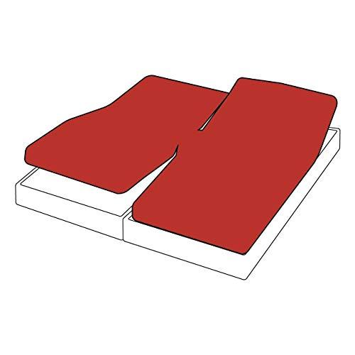 Tradilinge ~ Drap Housse TPR uni Rouge Carmin Percale 2x70x190