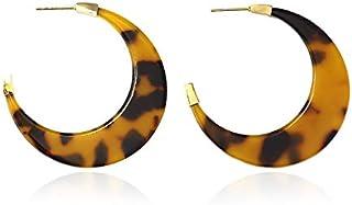 Anartxy Pendientes Aros con Textura Tipo Carey Para Mujer de Resina y Acero, Mejor Regalo