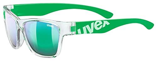 Uvex Sportstyle 508 Gafas Deportivas, Niños, Transparente/Verde, Talla Única