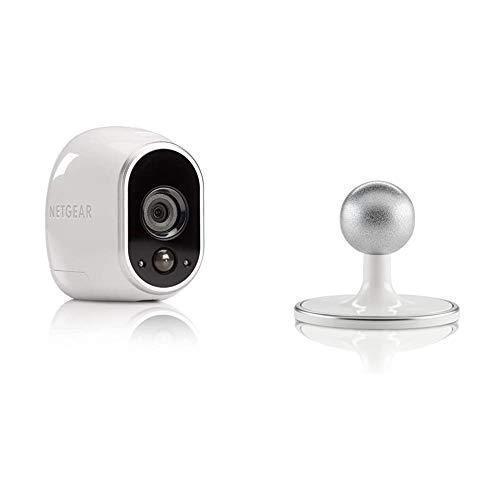 Arlo HD Überwachungskamera & Alarmanlage, Zusatzkamera, Smart Home, kabellos & Wand/Decken/Tischhalterung (geeignet für Arlo HD, Pro und Pro 2 kabellose Überwachungskamera) weiß/Silber, VMA1100