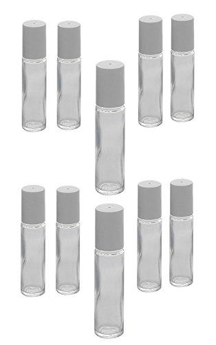 Glas Deostick zu 10ml, Kosmetex Deo-Roller zum selbst Befüllen, 10× 10ml