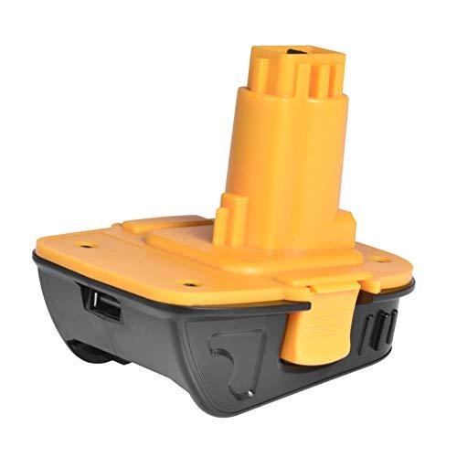 Adaptador de batería de reemplazo 20V Conversión de la batería de níquel de 18V Adaptador USB, para la batería de litio del adaptador DCA1820, con la mayoría de las herramientas de Dewalt 18V