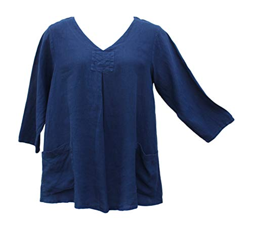 Match Point Women's Woodstock Pocket Tunic (Medium, Navy)