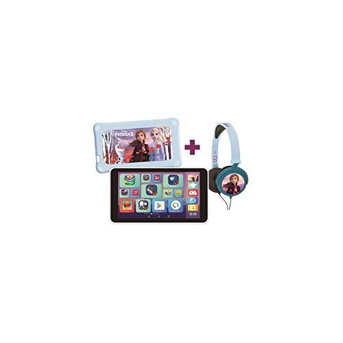 Lexitab Master Bundle Disney Die Eiskönigin 2 – Kinder-Tablet 7 Zoll mit Lernapplikationen, Spiele und Elternsteuerungen – Schutztasche + Kopfhörer Stereo Frozen II inklusive – Android, WI-F