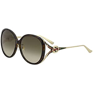 Fashion Shopping Gucci GG 0226 SK- 003 HAVANA/BROWN GOLD Sunglasses