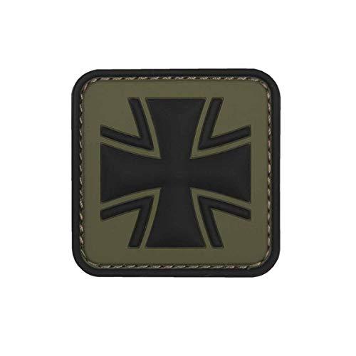 VAN OS Emblem 3D PVC Eisernes Kreuz grün #11109
