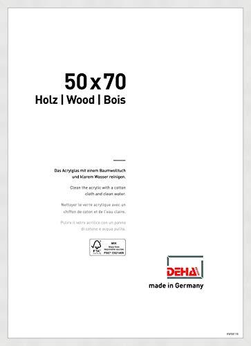 DEHA Holz Bilderrahmen Fontana, 50x70 cm, Weiß