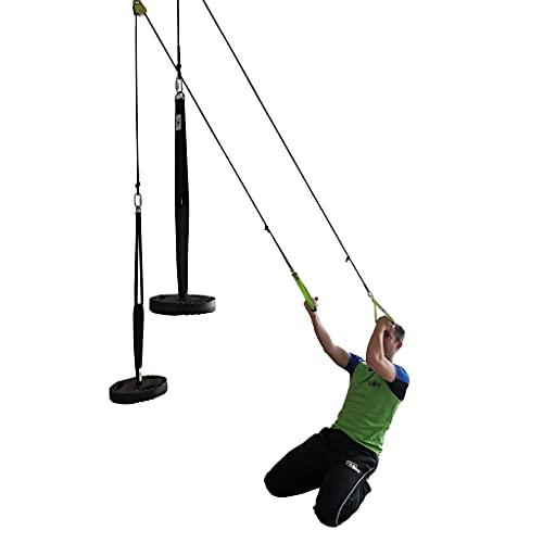 Estación de musculación móvil prémium | Estación de tracción para el hogar | Herramienta multifunción para fitness con adaptadores para fijación | entrenamiento de fuerza fabricado en Alemania