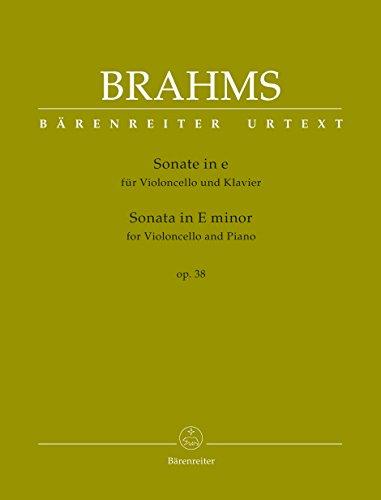 Sonate für Violoncello und Klavier e-Moll op. 38. Partitur mit Stimmen, Urtextausgabe