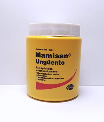 Mamisan Ungüento (200g/7.05oz) Each Orginal by Pfizer : Hits, Wounds, inflamation, Arthritis