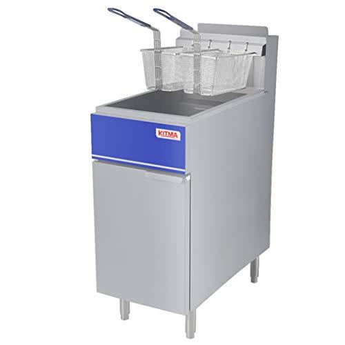 Commercial Deep Fryer, 50 lb. Liquid Propane Fryer with 2 Fryer Baskets, 4 Tube Floor Fry for Restaurant, Kitchen, 120,000 BTU/h