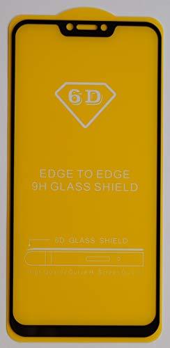 1x Full Cover Schutzglas für ASUS ZenFone 5z ZS620KL in Schwarz Glasfolie 9H 5D 6D 9D Displayschutzfolie Glass Premium Tempered Glass Protection (kein 3D Glas)