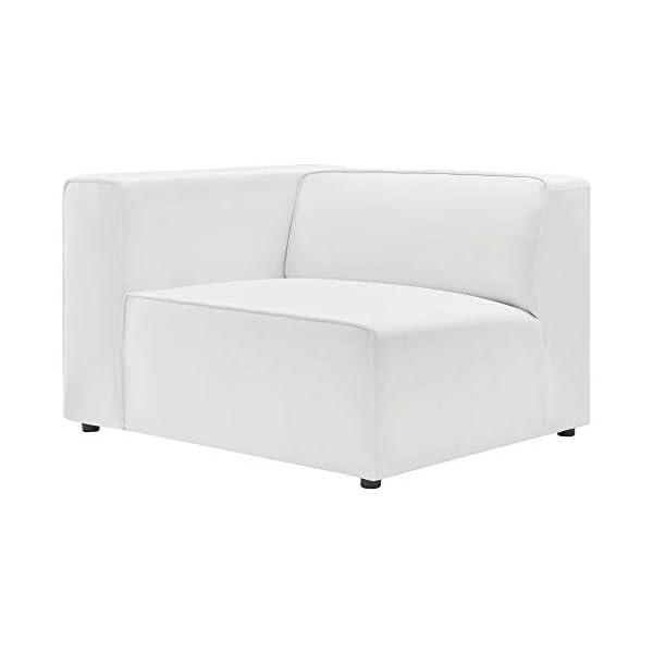 Ergode Mingle Vegan Leather 2-Piece White Sectional Sofa 3