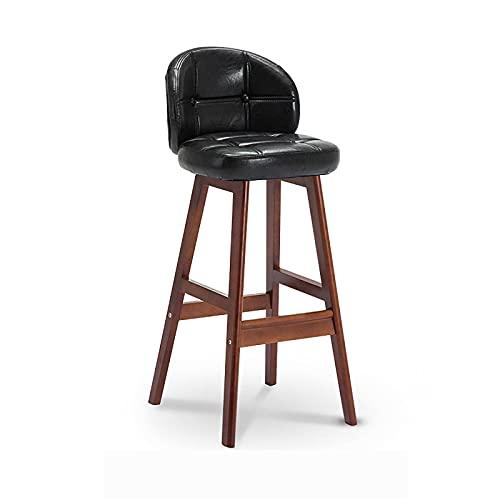 N\C Taburetes de barra de cuero PU sillas de bar con respaldo contador altura taburetes de bar hogar cocina desayuno sillas