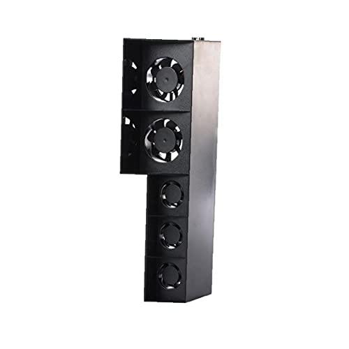 FeelMeet Console Cooler PS4 Lüfter Temperaturregelung 5 Lüfter Wärme Multi Usage Ventilator für Playstation 4 Konsole Schwarz