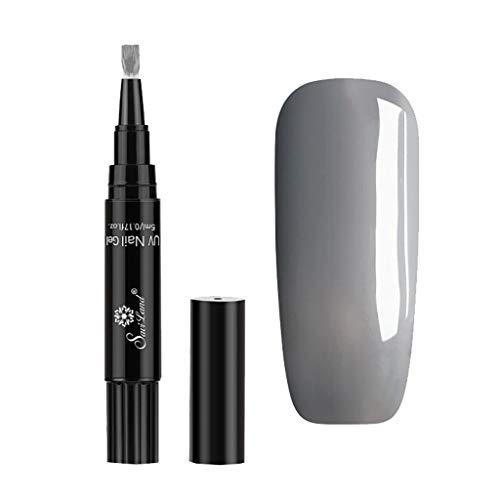 VANMO Nail Art Nagellack Stift,One Step Gel Pen uv Gel Nagellack Stift 3 in 1 LED Gellack Gelnägel Farbenset für Nail Art Salon,No Base Top Coat Need 5ML