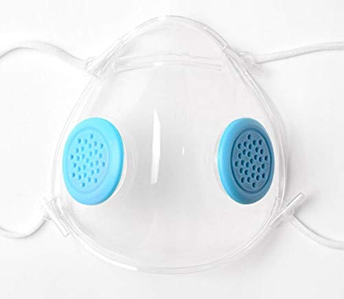 Mascarilla transparente, mascarilla para lectura labial, mascarilla PM 2.5, mascarilla para trabajo de cara al publico, transparent mask