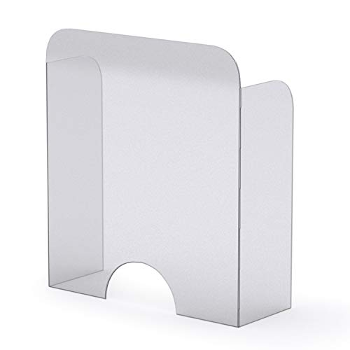 Mampara Protector Mostrador Metacrilato Redondeada 67,6 x 75,5 cm, Pantalla Flexible, Adaptable y Portátil