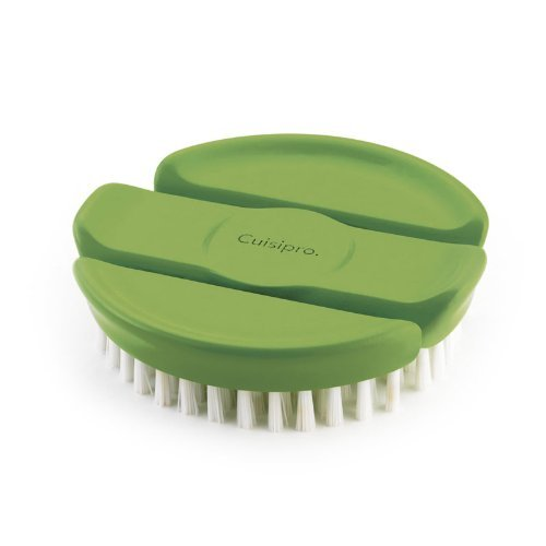 Cuisipro Flexible Vegetable Brush, Green