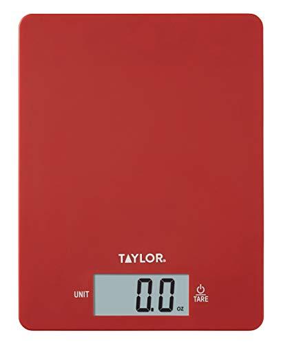 Taylor Precision Products - Báscula digital ultrafina de cocina (11 libras), color rojo