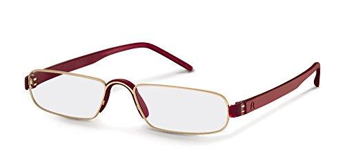 Rodenstock Unisex ProRead Lesehilfe mit entspiegelten Vollrandgläsern, Brille mit leichtem Edelstahlgestell, bei Weitsichtigkeit, Grau/Braun, 1.5